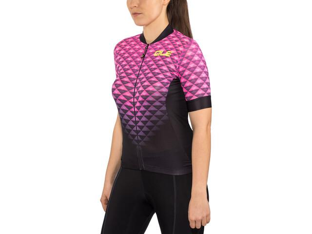 Alé Cycling Solid Hexa SS Jersey Damen black flou pink